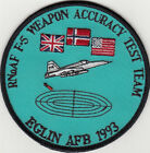 Norway. RNoAF F-5 Weapon Accuracy Test Team Elgin AFB 1993. Mint Patch.