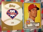Cole Hamels #299 Phillies 12/49 Made 2015 Topps '52 Hommage Gold 5x7 1952