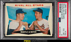 1960 Topps Miceky Mantle & Ken Boyer RIVAL ALL-STARS #160 PSA 6 EXMT (PWCC)