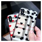 New Lattice love tempered glass stripe phone shell for Phone 6 6S 7 8 X XS MAX