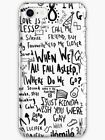 Billie Eilish Lyric iPhone Case X R S 8 7 6 Plus Max, Bad Guy, Copycat, Lovely