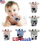 US Baby Silicone Mitts Teething Mitten Cow Teething Molar Gloves Wrapper Teether