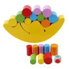 Kids Moon Balancing Wooden Blocks Stacking Toy Baby Early Educational Gift LS