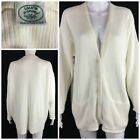 Vintage Laura Ashley Sz L Ivory Button Front Cardigan Sweater Made in England