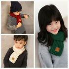 Внешний вид - Baby Winter Warm Solid Color Scarf Knitting Wool Children Neck Warmer Scarves L