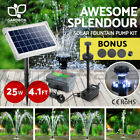 5-110W Solar Powered Water Pond Pump Kit Battery Outdoor Fountain Submersible
