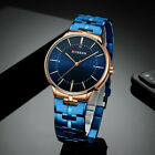 CURREN Men Business Ultra Thin Watches Stainless Steel Quartz Wristwatch 8321 image