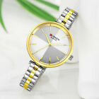 CURREN Women Thin Dial Business Watches Stainless Steel Quartz Wristwatch 9043 image
