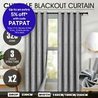 LUXDREAM 2X Blockout Curtains Room Darkening Blackout 320GSM Pure Fabric Silver