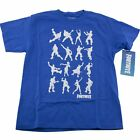 Fortnite Dance Moves Boys T-Shirt Size M L Blue