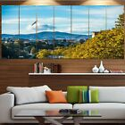 Designart 'Old Town and Hills in Tbilisi' Landscape Canvas Wall Artwork -