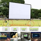 """120"""" 16:9 HD 3D 4K Movie Portable Projector Screen Outdoor Home Cinema Theater"""