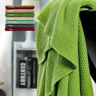 Solid 100% Cotton Soft Decorative Knitted Blankets for Couch 4 Sizes & 7 Colors image