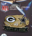 Packers 2008 Game Day Pin Choice 7 pins Green Bay Cowboys Vikings Texans Bears +