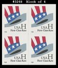 US #3268 MNH BL4 H-rate Hat s/a