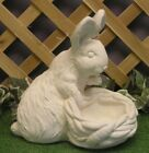 Classical Bunny Rabbit Carrot Planter Latex Fiberglass Mold Concrete Plaster