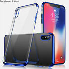 iPhone Xs Max 6.5 Electroplated TPU Case(BLUE)