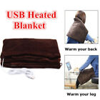 USB Electric Soft Heated Blanket Shawl Warming Neck Shoulder Heating Pad Gift image