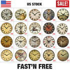 38cm 15 Wooden Wall Clock Vintage Antique Shabby Home Decor Gifts Large Silence