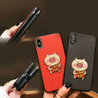 For iPhon Xs Max XR 6s 8 Plus Kawaii Pig Anti-Scratch TPU Soft Thin Durable Case