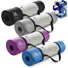 "Внешний вид - 72"" x 26"" Exercise Yoga Mat 1/2"" Thick w/ Carry Strap - Pilates Fitness"