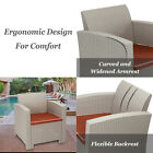 Weather Outdoor Patio Garden Furniture Sofa Gray Love Seat And Coffee Table