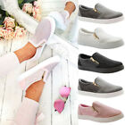 Ladies Womens Flats Plimsolls Diamante Skater Pumps Trainers Sneakers Shoes Size