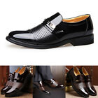 Men Dress Business Formal Oxfords Leather shoes Breathable Casual Shoes Slip Ons
