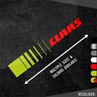 Claas With Stripes Left Side / Decal - Multiple Colours & Sizes Available