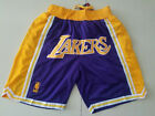 New Men's Los Angeles Lakers just don LOGO Basketball Pants Shorts Mesh purple on eBay