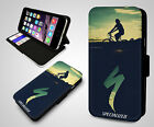 Specialized Cycling Racing Team Bike Cycle Flip Wallet Leather Phone Case Cover