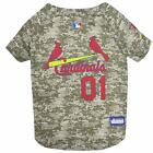 Saint Louis Cardinals MLB Dog Pet Camo Hunting Jersey (all sizes)