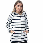 Womens Harvey And Jones Bateau Striped Jacket In White / Navy