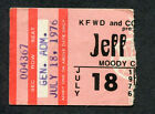 Original 1976 Jeff Beck concert ticket stub SMU Dallas Wired Tour