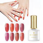 BORN PRETTY 6ml Coral Red UV Gel Soak Off Nail Art Gel Polish Pure Tips Design