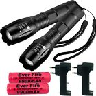 90000LM Tactical T6 Zoomable LED Flashlight Torch Light +18650 Battery & Charger