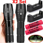 90000LM Tactical T6 Zoomable LED Flashlight Torch Light 18650 Battery  Charger