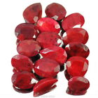 620 Ct/16 Pcs Certified Natural Ruby Blood Red Mixed Faceted Jewelry Gemstones