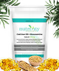 1000/1000mg Cod Liver Oil + Glucosamine Capsules Made By Nutrivity UK