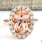 18k Champagne Gold Filled Zircon Crystal Promise Womens Fashion Rings Jewellery