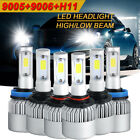 New 9005 9006 H11 6000K 4500W 675000LM Combo CREE LED Headlight Kit Hi-Low Bulbs