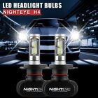 NIGHTEYE H4 (9003/HB2) 8000LM LED Headlight Bulbs Conversion Kit Hi/Lo Beam
