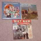 3 lp Historic Albums: Gallent Men, Pres Campaign Songs & Viet Nam Policy/Protest