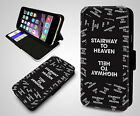 Stairway To Heaven Highway To Hell Lyrics Quote Wallet Leather Phone Case Cover