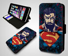 Marvel Superman Hipster Punk Superhero Cool Tattoo Flip Leather Phone Case Cover