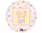 "ANAGRAM 18"" PINK ROUND FOIL BALLOON ITS A GIRL NEW IN RETAIL PACKET NEW BABY"