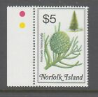 Norfolk Island 1984 Native Flowers $5 mint unhinged stamp colour bar on selvedge