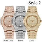 New Hot Hip Hop Iced Out Rapper Bling Gold Plated Diamond Watch Quartz Xmas Gift image