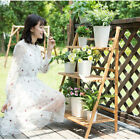 3-Tier Bamboo Plant Stand Planter Rack Flower Pots Holder Disply Rack Home Decor