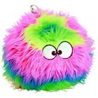 Dog Toys Plush Furballz Colorful Rainbow Face Chew Resistant Round Ball Shaped